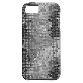 Metallic Silver Sequins Look Disco Mirrors Bling iPhone 5 Covers