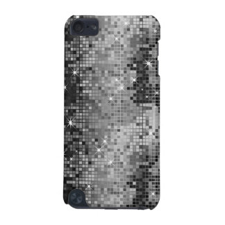Metallic Silver Sequins Look Disco Mirrors Bling iPod Touch 5G Cover