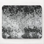 Metallic Silver Sequins Look Disco Mirrors Bling Mousepads