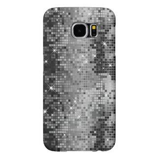 Metallic Silver Sequins Look Disco Mirrors Bling Samsung Galaxy S6 Case