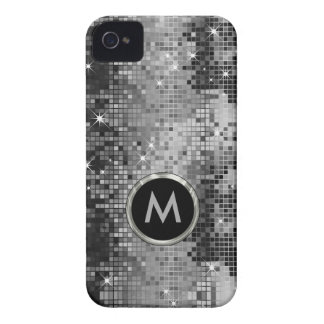 Metallic Silver Sequins Look Glitter Case-Mate iPhone 4 Case