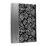 Metallic Silver Stainless Steel Look & Damasks iPad Case