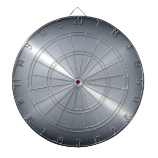 Metallic Silver Stainless Steel Metal Look Dart Board