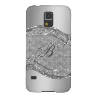 Metallic Silver Steel And Diamonds Background Galaxy S5 Case