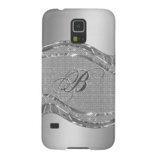 Metallic Silver Steel And Diamonds Background Galaxy S5 Case