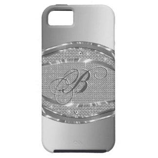 Metallic Silver With Diamonds Pattern iPhone SE/5/5s Case