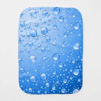 Metallic Sky Blue Rain Drops