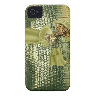 Metallic Snake Skin Rhinestone IPhone 4 Case