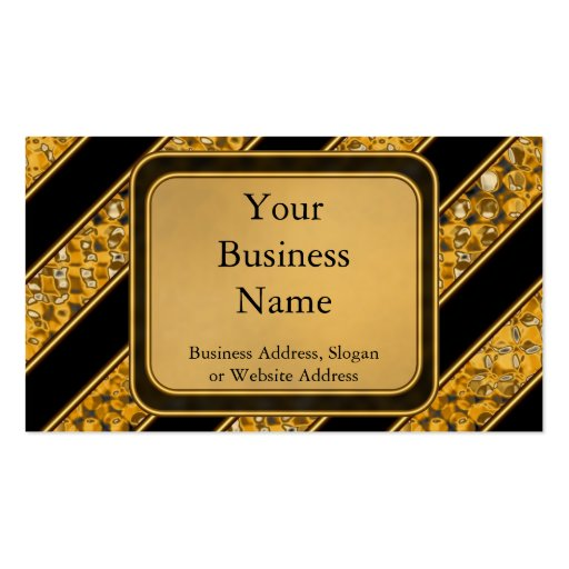 Metallic Snake Stripes Business Card