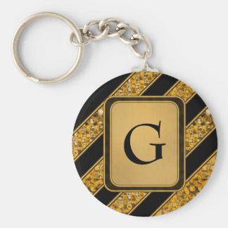 Metallic Snake Stripes Keychain