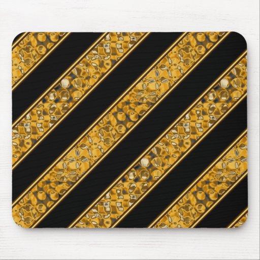 Metallic Snake Stripes Mouse Pads