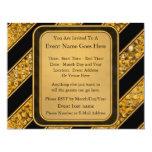 Metallic Snake Stripes Personalized Invite