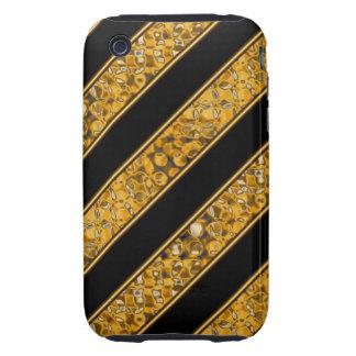 Metallic Snake Stripes Tough iPhone 3 Case