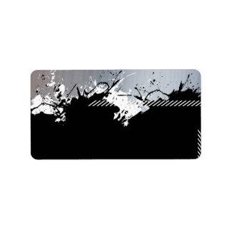 Metallic Splatter Background Address Label