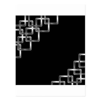 Metallic square tiles postcard