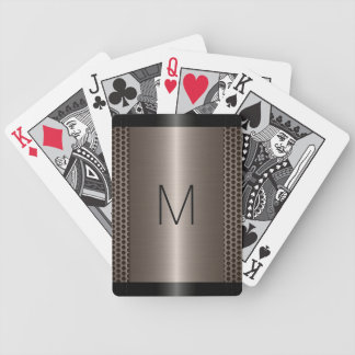 Metallic Stainless Steel Metal Look #2 Bicycle Playing Cards