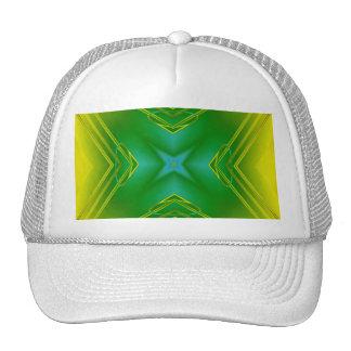 Metallic Star in Green & Yellow Mesh Hats