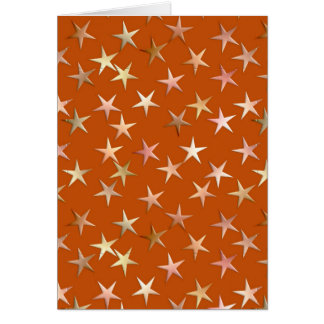 Metallic stars, pale gold and copper shades card