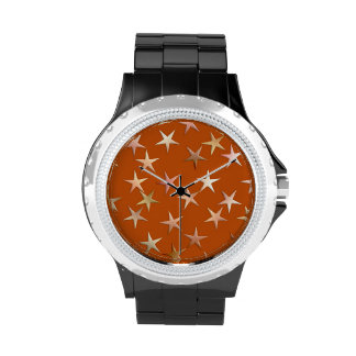 Metallic stars, pale gold and copper shades wristwatches