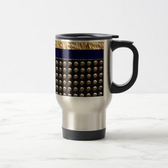 Metallic Studs Pattern Travel Mug