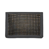Metallic Studs Pattern Trifold Wallet
