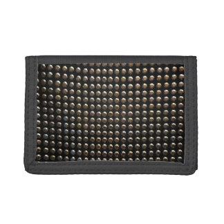 Metallic Studs Pattern Trifold Wallet
