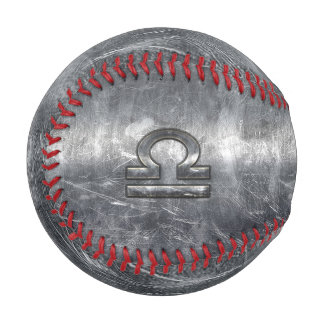 Metallic Style Libra Zodiac Sign Baseball
