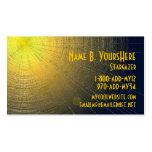 Metallic Sun Business Card