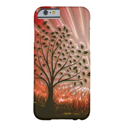 Metallic Sunset Tree In The Sun iPhone 6 Case