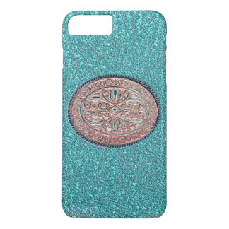 Metallic Teal and Rose Gold Buckle iPhone 8 Plus/7 Plus Case
