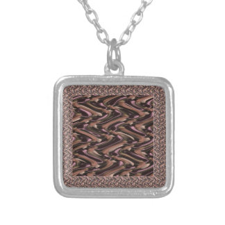 Metallic- THANKS to mother earth add text white Necklaces