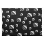 Metallic tile background cloth placemat