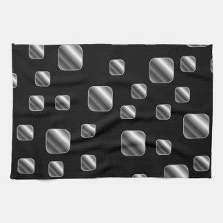 Metallic tile background kitchen towels