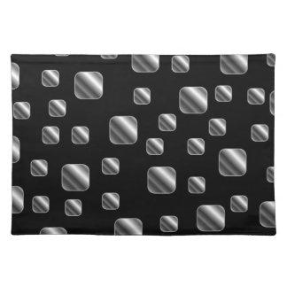 Metallic tile background placemat