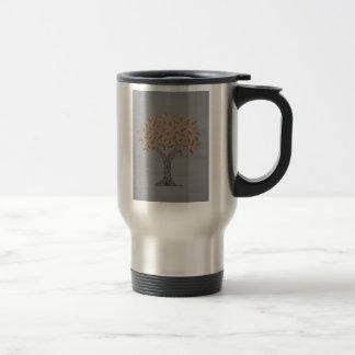 metallic tree mug