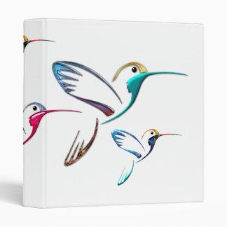 Metallic Tropical Hummingbird 3 Ring Binders