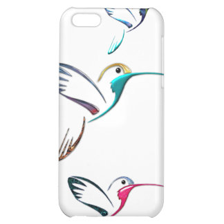 Metallic Tropical Hummingbird Cover For iPhone 5C