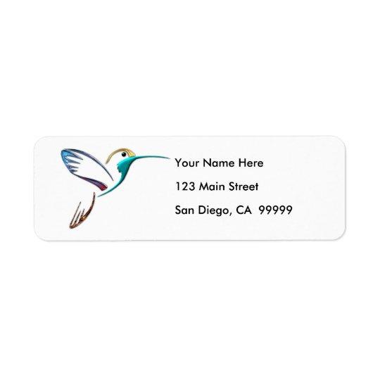 Metallic Tropical Hummingbird Label