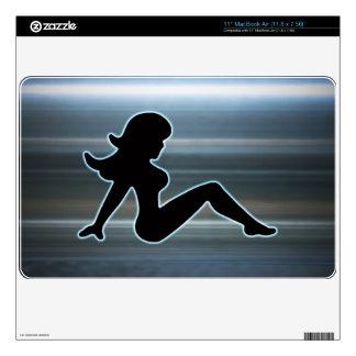 "Metallic Trucker Girl Laptop Cover 11"" MacBook Air Decal"
