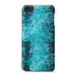 Metallic Turquois Sequins Look Disco Mirrors Bling iPod Touch (5th Generation) Case