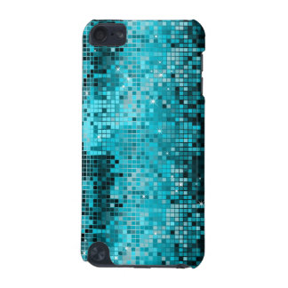 Metallic Turquois Sequins Look Disco Mirrors Bling iPod Touch (5th Generation) Cover