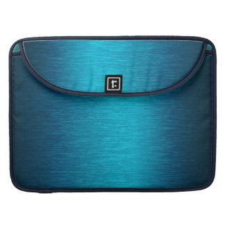 Metallic Turquoise Brushed Aluminum Look Sleeve For MacBook Pro