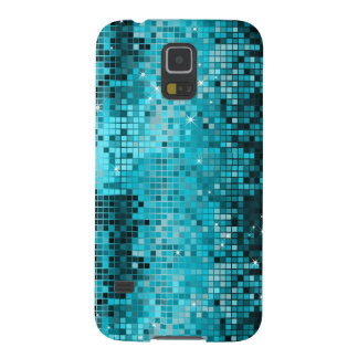 Metallic Turquoise Sequence Look Disco Mirrors Case For Galaxy S5