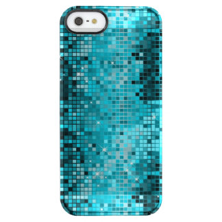 Metallic Turquoise Sequence Look Disco Mirrors Uncommon Clearly™ Deflector iPhone 5 Case