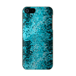 Metallic Turquoise Sequence Look Disco Mirrors Incipio Feather® Shine iPhone 5 Case