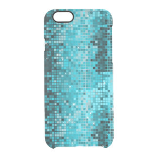 Metallic Turquoise Sequence Look Disco Mirrors Uncommon Clearly™ Deflector iPhone 6 Case