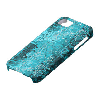 Metallic Turquoise Sequence Look Disco Mirrors iPhone SE/5/5s Case