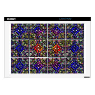 "Metallic Twelve part pattern tile design 17"" Laptop Decal"
