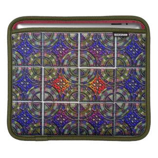 Metallic Twelve part pattern tile design Sleeve For iPads