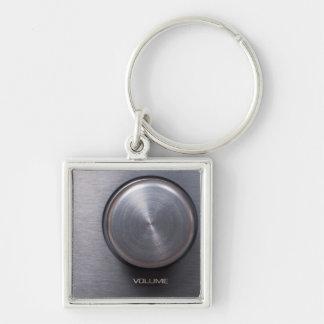 Metallic Volume Knob Keychain